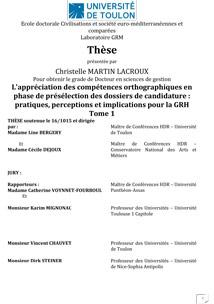 Étude réalisée par Christelle Martin Lacroux, Chef du Département Techniques de commercialisation -Université de Toulon