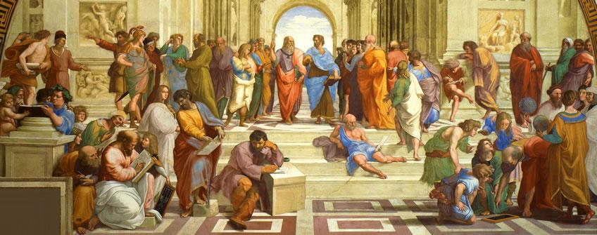 Socrate Aristote école d'Athènes