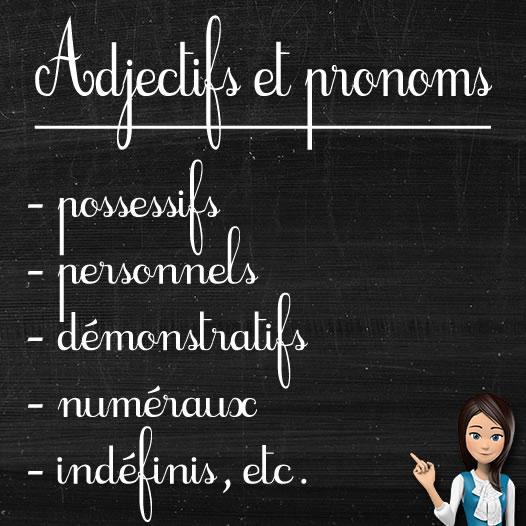 Les adjectifs et les pronoms